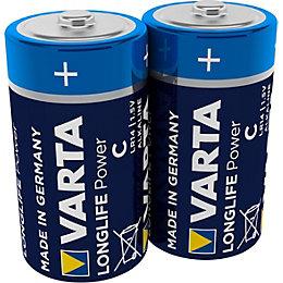 Varta High Energy C Alkaline Battery, Pack of