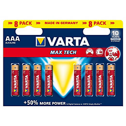 Varta Max Tech AAA Alkaline Battery, Pack of