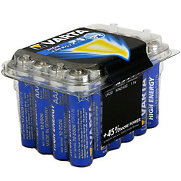 Varta High Energy AAA Alkaline Battery, Pack of