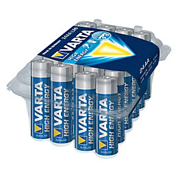 Varta High Energy AA Alkaline Battery, Pack of
