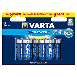 Varta High Energy C Alkaline Battery, Pack of
