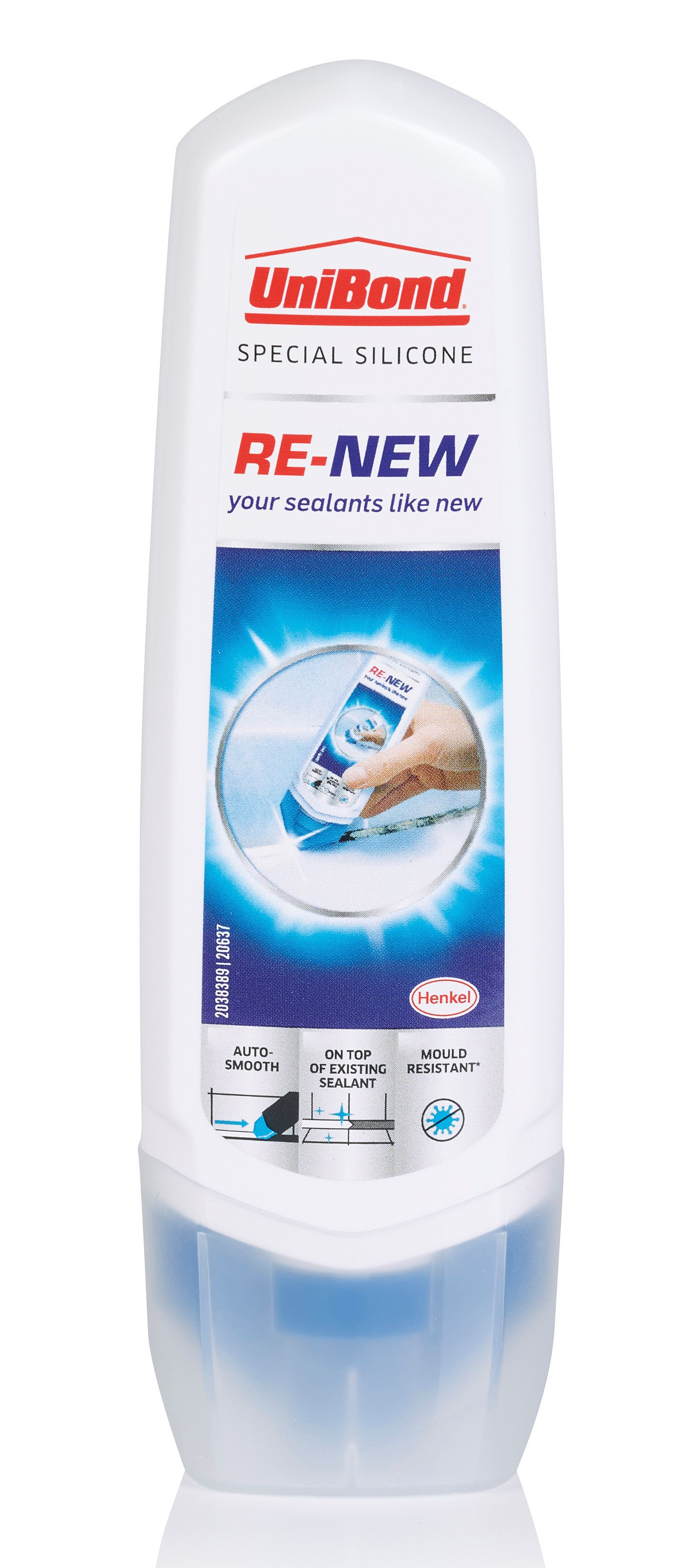 Unibond Ready To Use Re New White Silicone Sealant