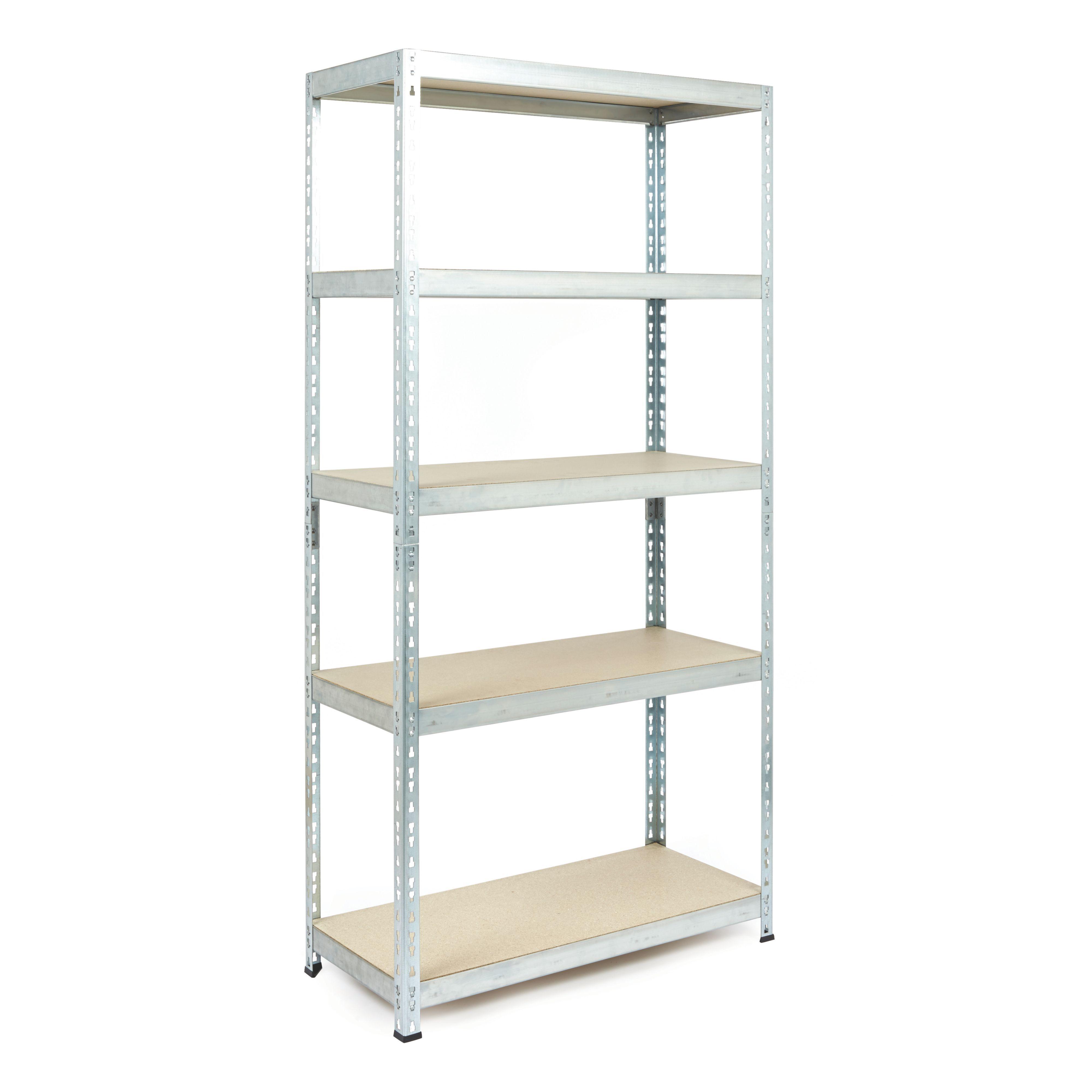 5 Shelf Metal Shelving Unit | Departments | DIY at B&Q