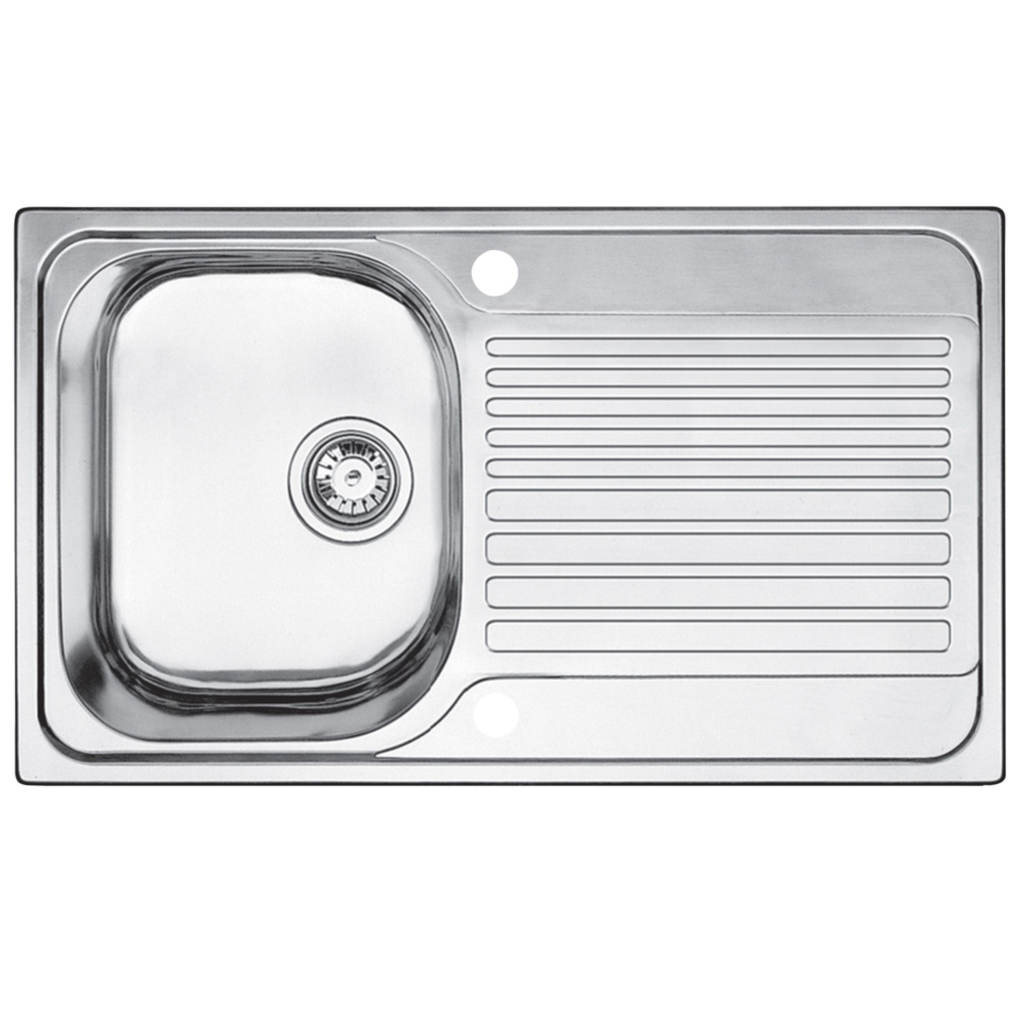 blanco toga 1 bowl stainless steel compact sink & drainer