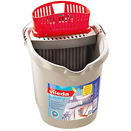 Vileda Grey & Red Ultramax Mop Bucket &