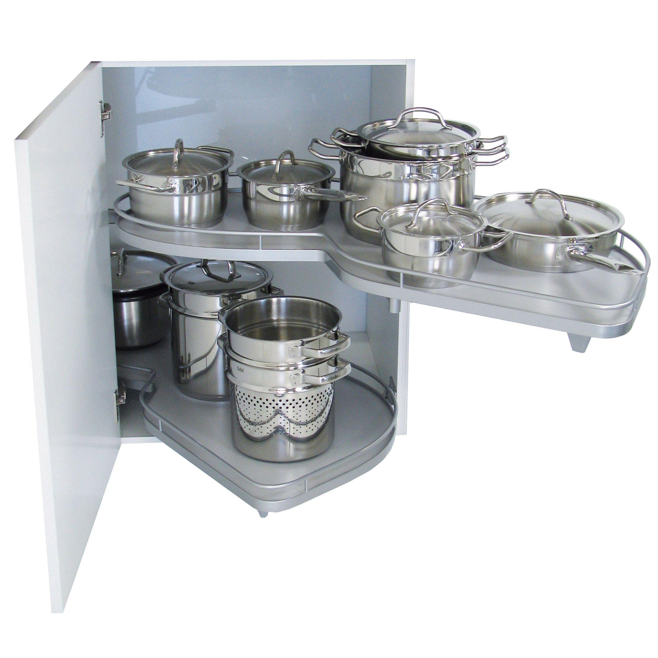 Kesseb hmer rh lemans corner cabinet storage 1000mm for Kitchen cabinets 1000mm