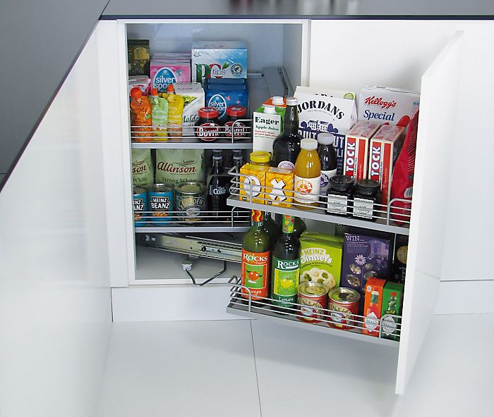 Pull-out kitchen cabinet storage