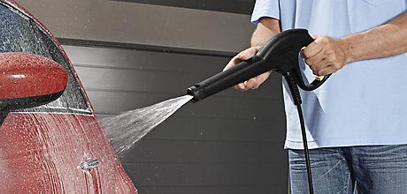 image of car and pressure washer