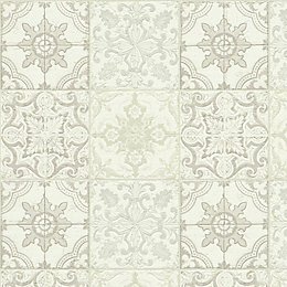 A.S. Creation Chatsworth Beige, Cream & White Mosaic