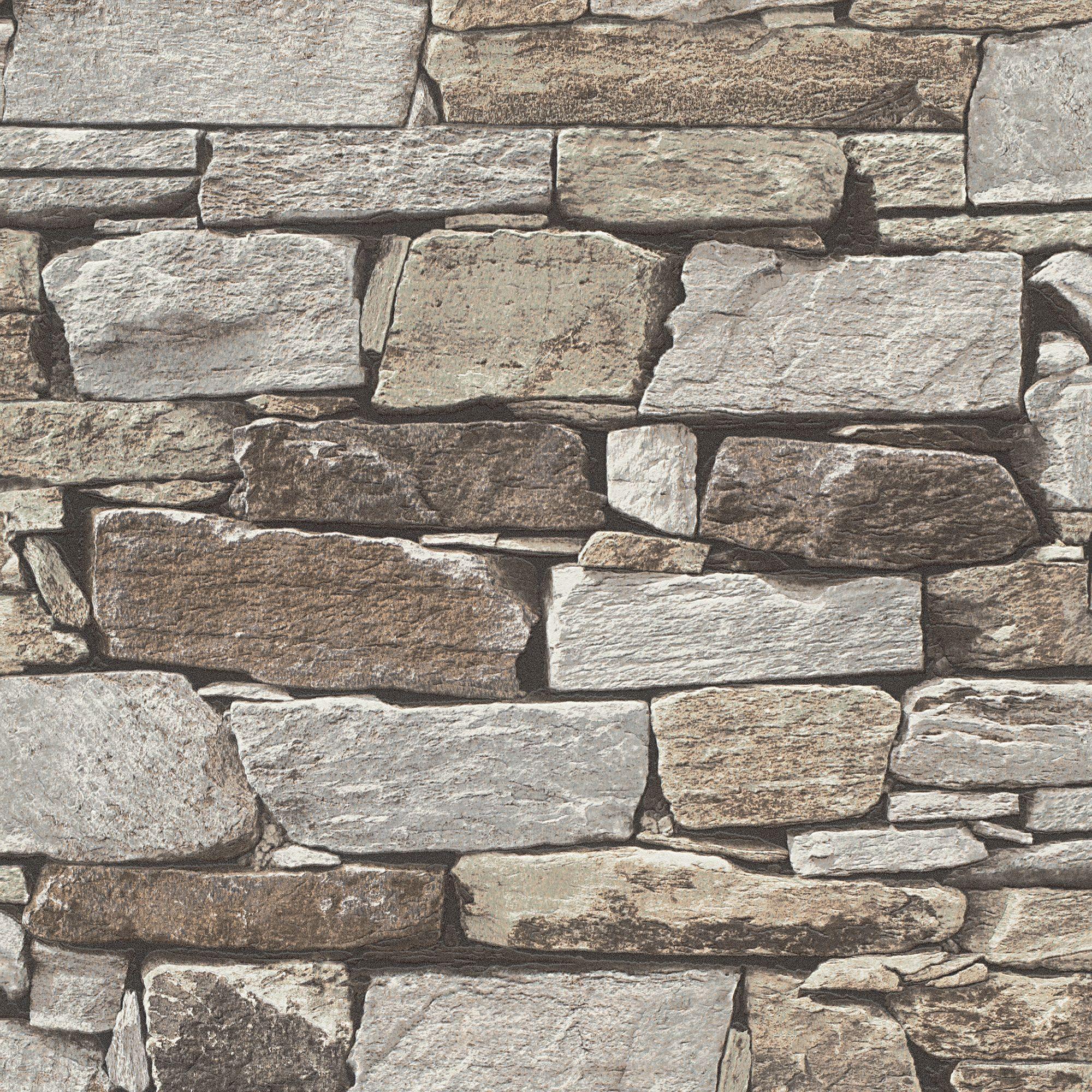 Brown And Slate Blue Living Room: Brown Slate Stone Wallpaper