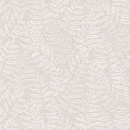 Cream Fern Leaves Glitter Highlight Wallpaper