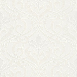 Burlington Cream Damask Glitter Highlight Wallpaper