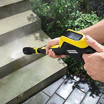 Karcher Full Control Plus Pressure Washer cleaning outdoor steps