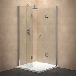 Cooke & Lewis Square Shower Enclosure with Hinged