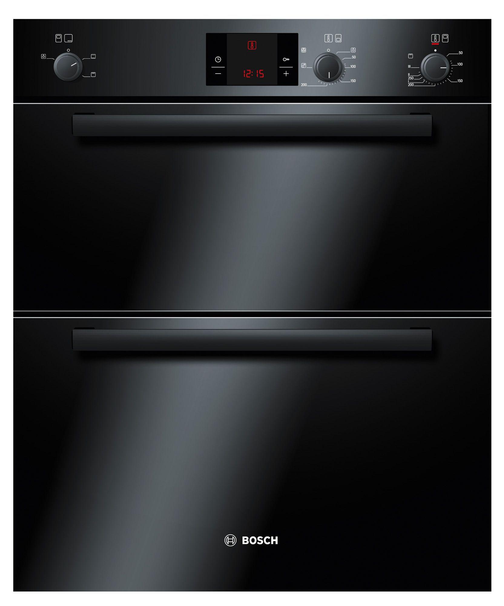 Bosch Hbn13b261b Black Electric Built Under Double Oven