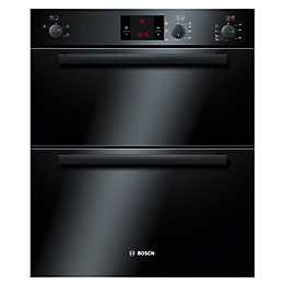 Bosch HBN13B261B Black Electric Built Under Double Oven