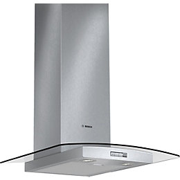 Bosch DWA094W51B Stainless Steel Glass Canopy Chimney Cooker