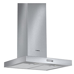 Bosch DWB064W50B Stainless Steel Chimney Cooker Hood, (W)
