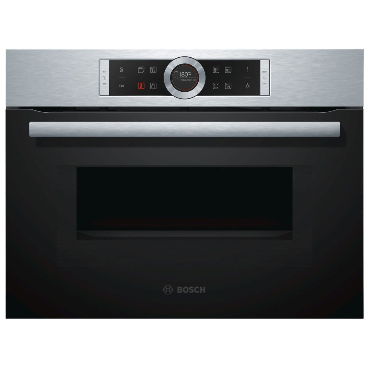 Bosch Cmg633bs1b Brushed Steel Electric Compact Oven With Microwave