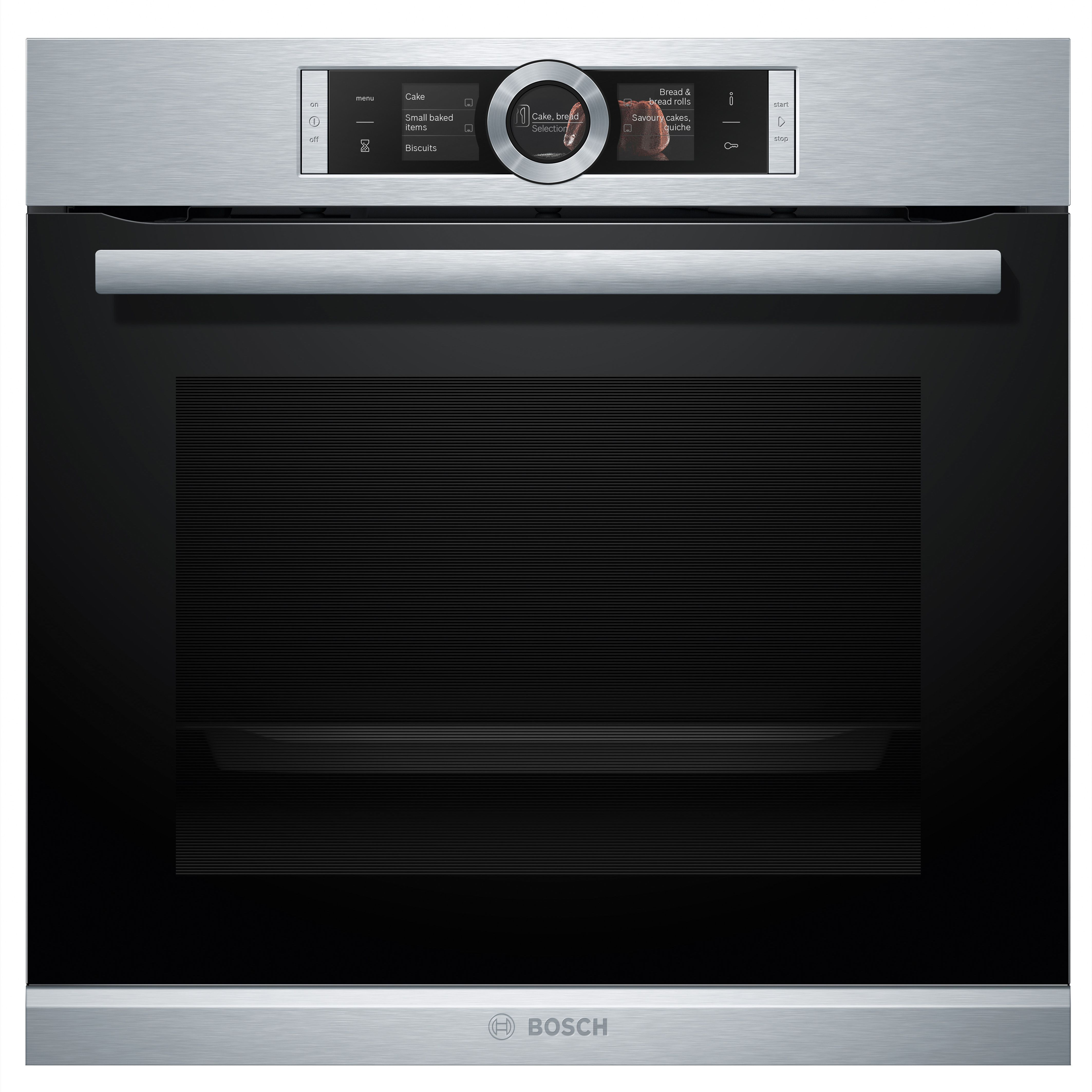 Bosch Hbg6764s1b Brushed Steel Electric Multifunction Pyrolytic Single Oven