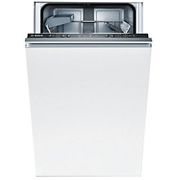 Bosch SPV40C10GB Integrated Slimline Dishwasher, White