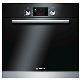 Bosch HBA63B152B Brushed Steel Electric Pyrolytic Single Oven