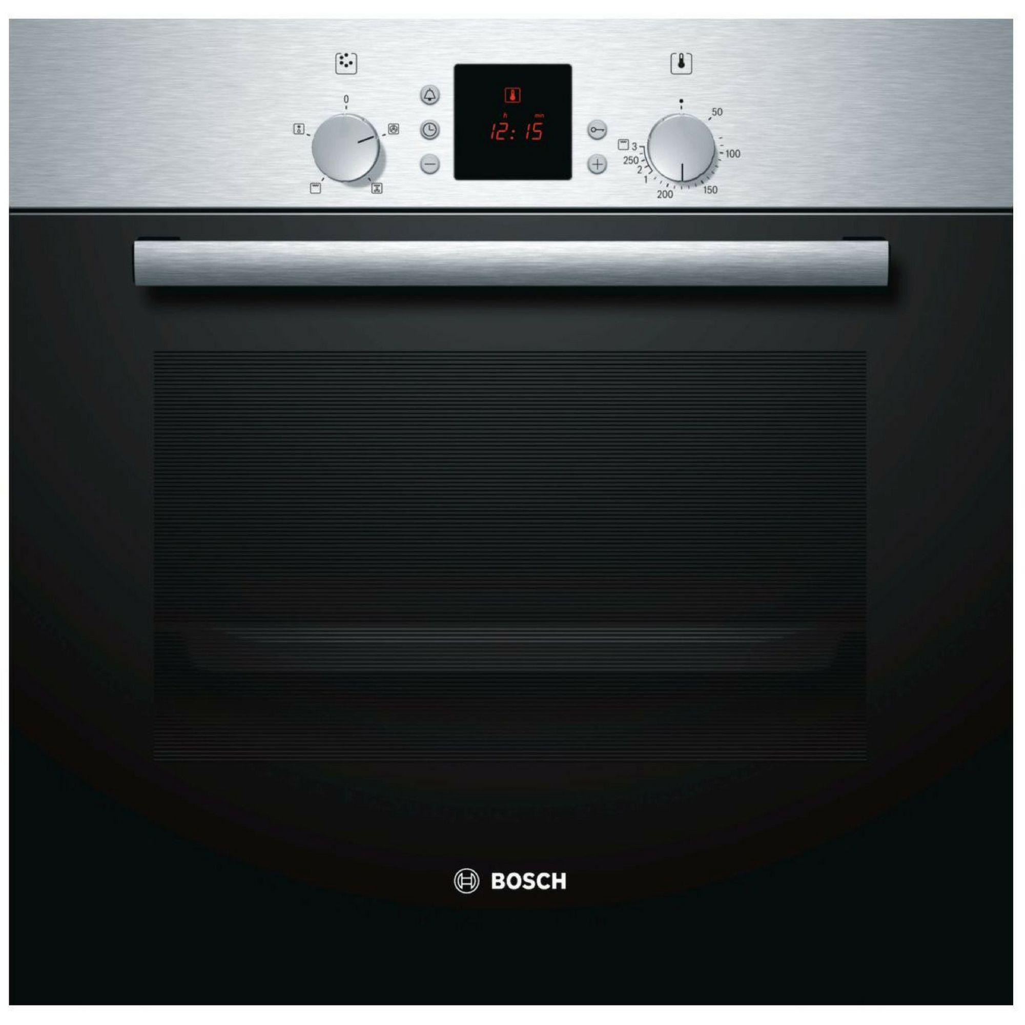 Bosch Hbn331e5b Brushed Steel Electric Single Fan Oven