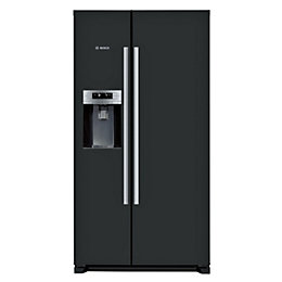 Bosch KAD90VB20G Black American Style Fridge Freezer
