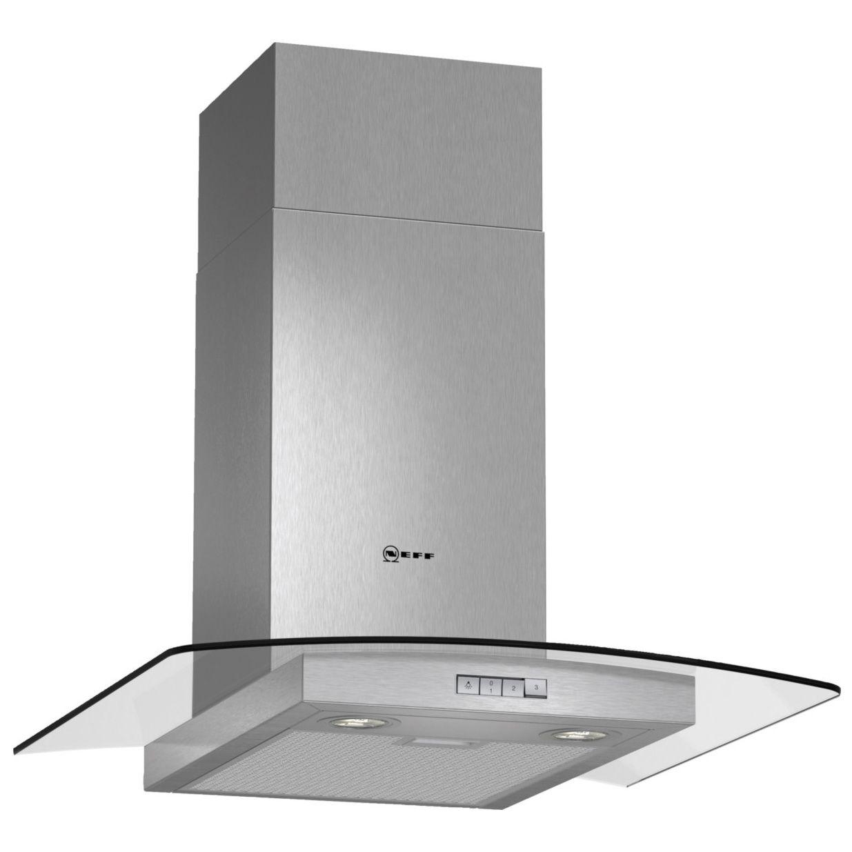 Neff D86gr22n0b Stainless Steel Effect Glass Canopy Cooker Hood, (w) 600mm
