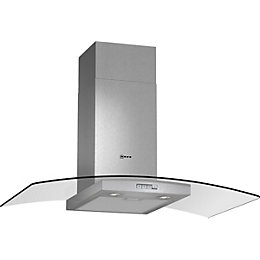 Neff D89GR22N0B Stainless Steel Glass Canopy Chimney Cooker
