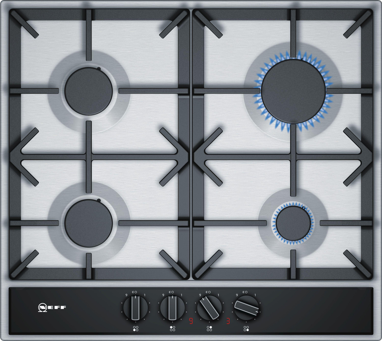 Neff T26da49n0 4 Burner Black Stainless Steel Gas Hob