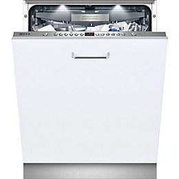 Neff S51M66X0GB Integrated Full Size Dishwasher, White