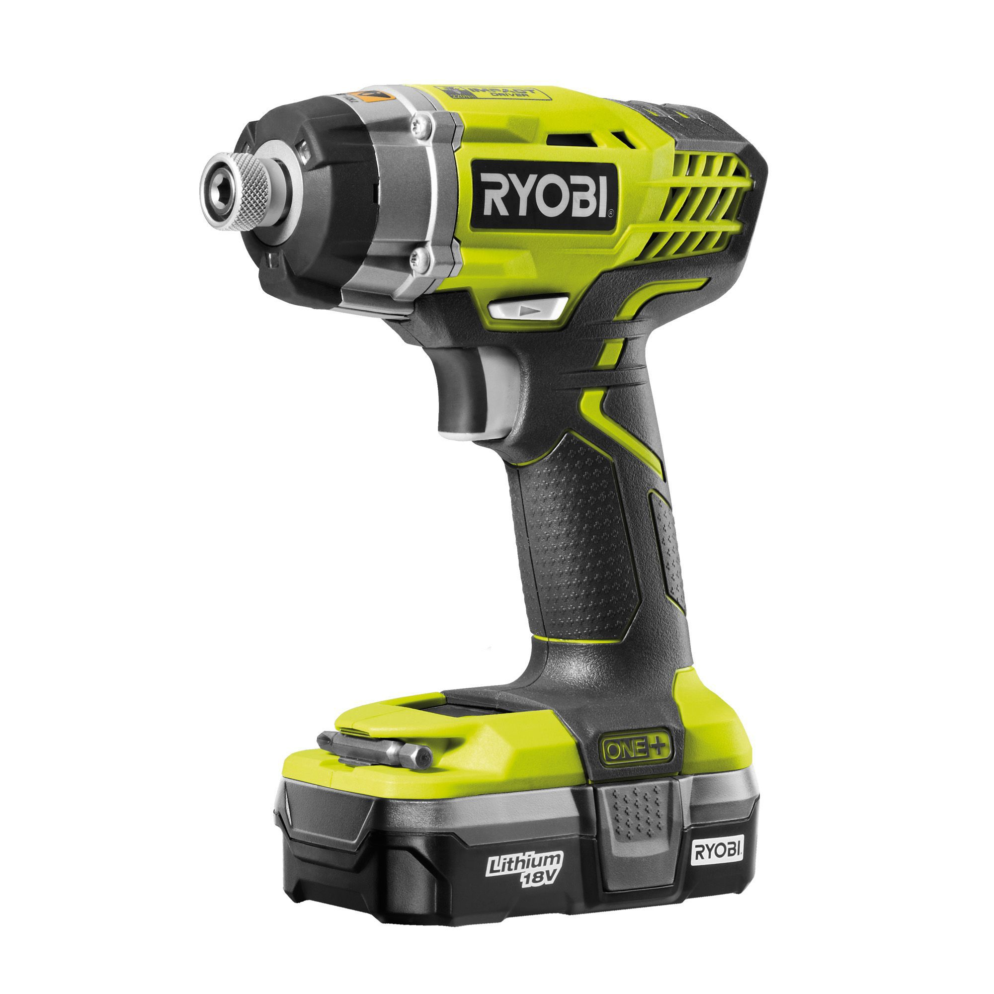 ryobi one cordless 18v 1 3ah li ion impact driver 1. Black Bedroom Furniture Sets. Home Design Ideas