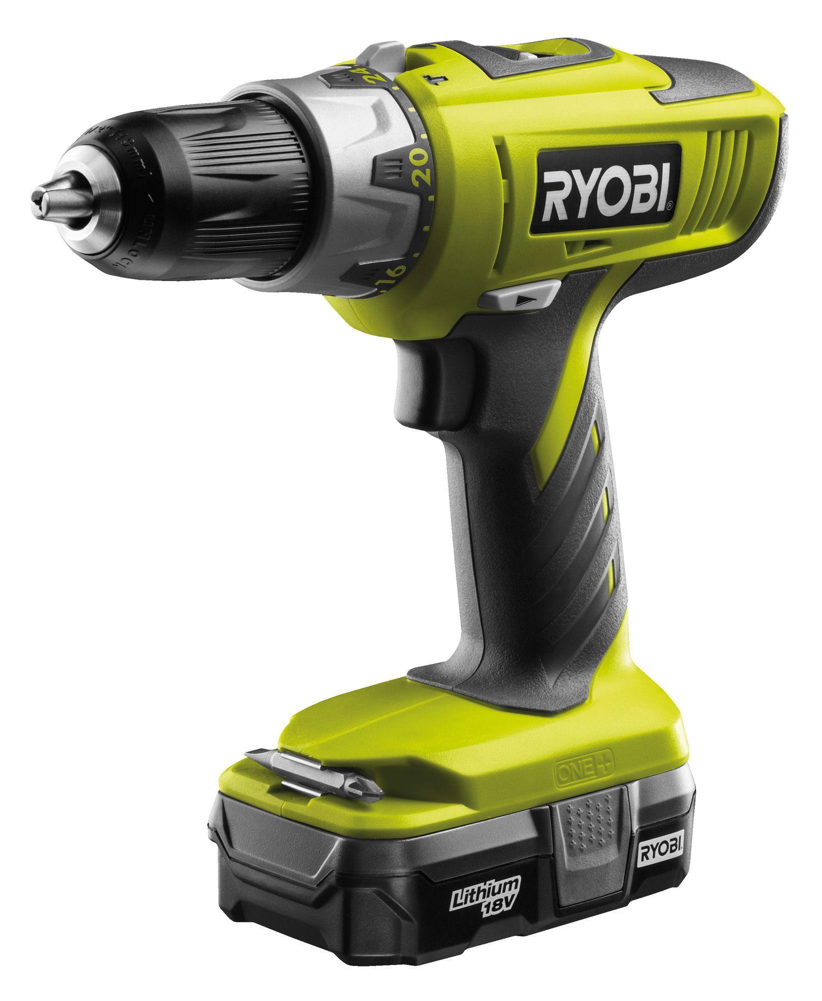 Ryobi One+ Cordless 18v 1.3ah Li-ion Combi Drill 1 Battery Llcdi1802-l13g