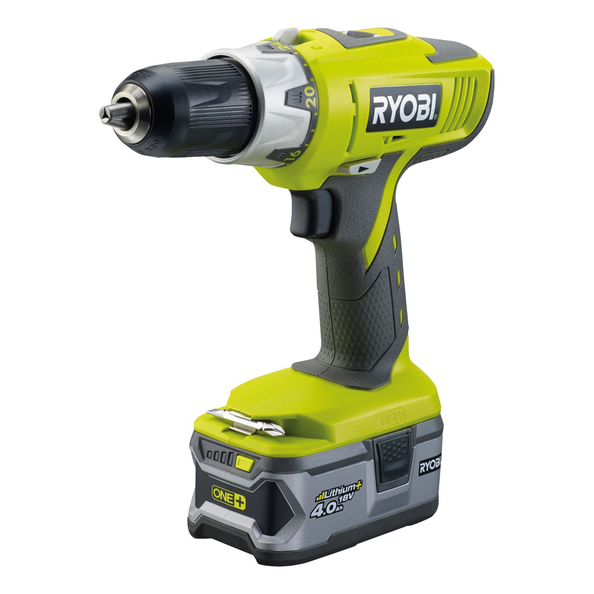 Ryobi One+ Cordless 18v 4ah Li-ion Combi Drill 2 Batteries Llcdi18ll40s