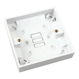 Marbo 16mm Plastic Single Pattress Box