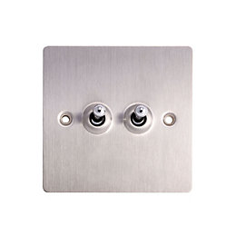 Holder 10A 2-Way Stainless Steel Switch