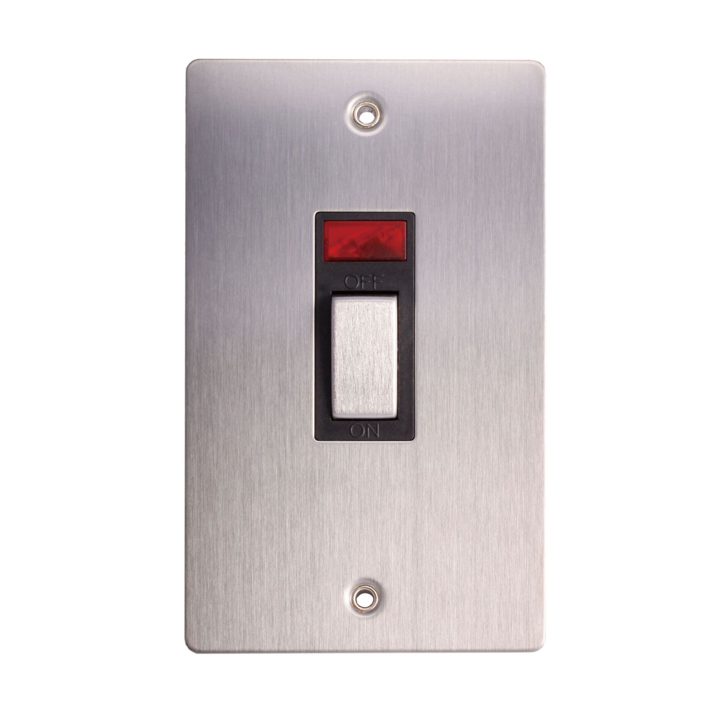 Holder 45a Double Pole Brushed Stainless Steel Effect Cooker Switch