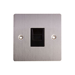 Holder 1-Gang Flat Plate Stainless Steel Telephone Socket