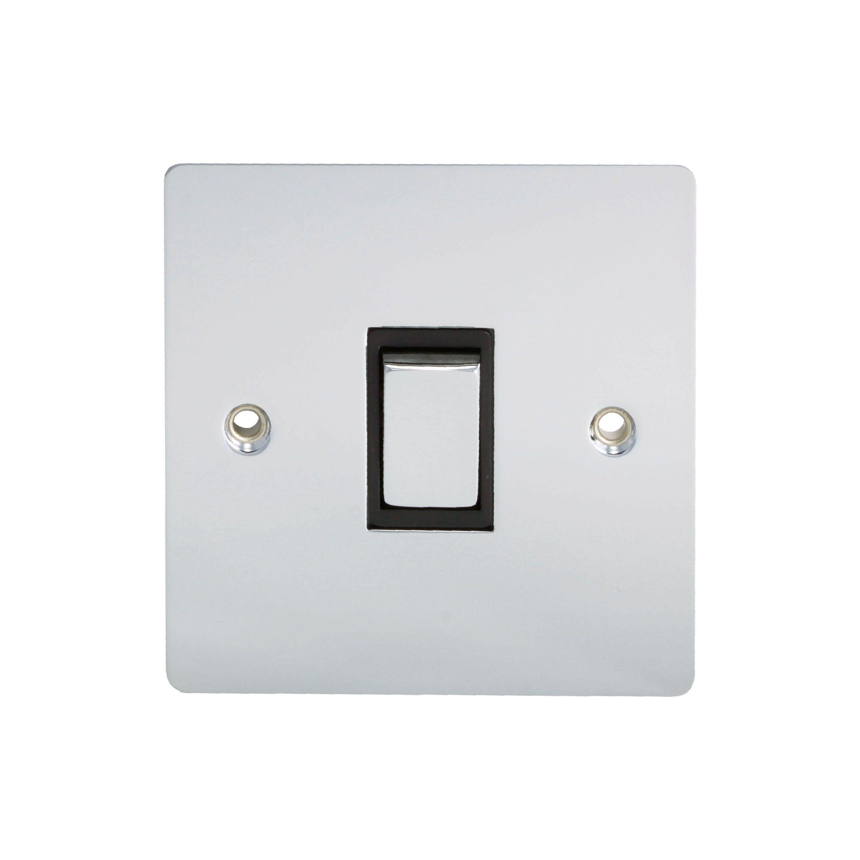 Holder 10a 2-way Single Polished Chrome Light Switch