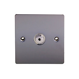 Holder 1-Way Single Black Nickel Dimmer Switch