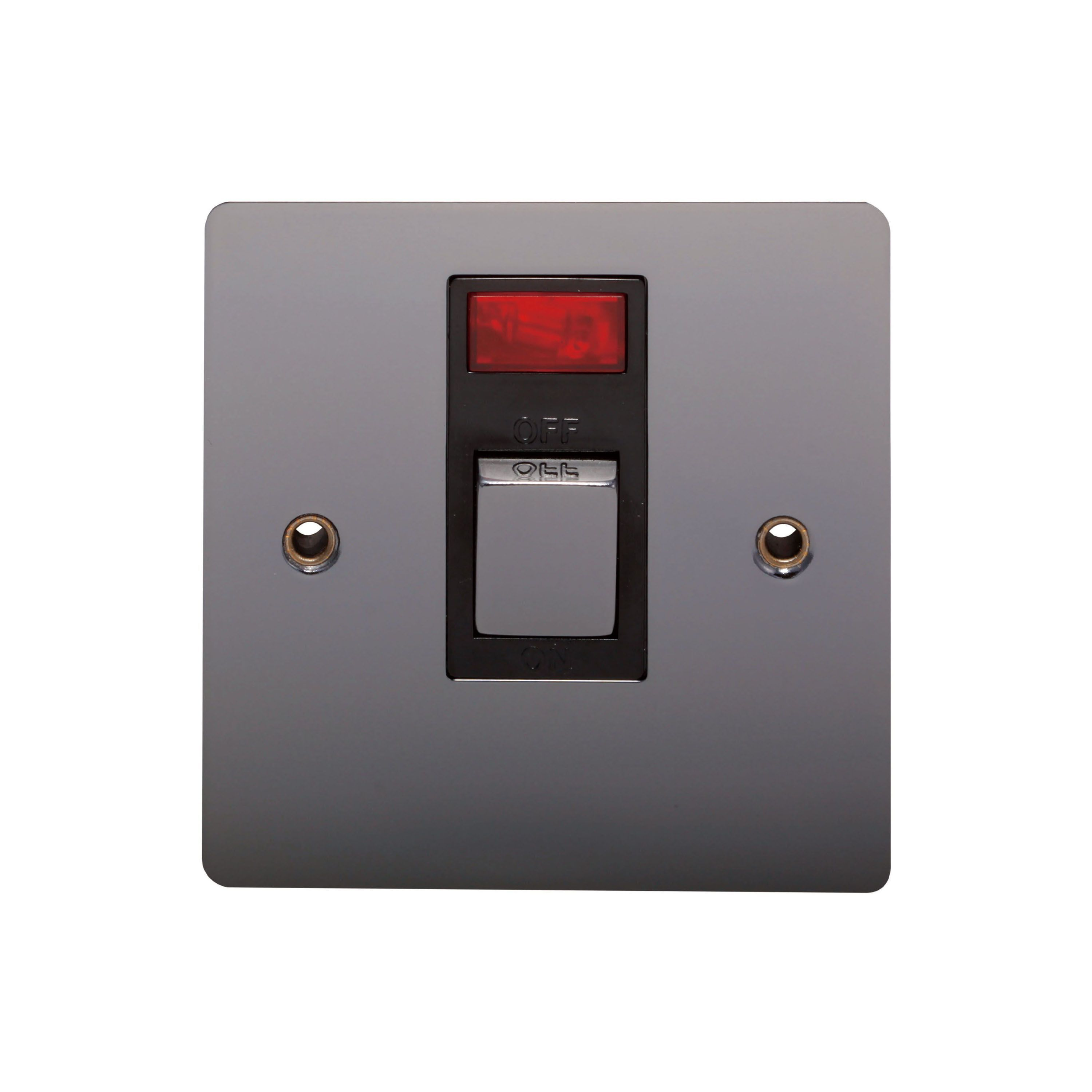 Holder 20a Single Black Nickel Switch With Neon