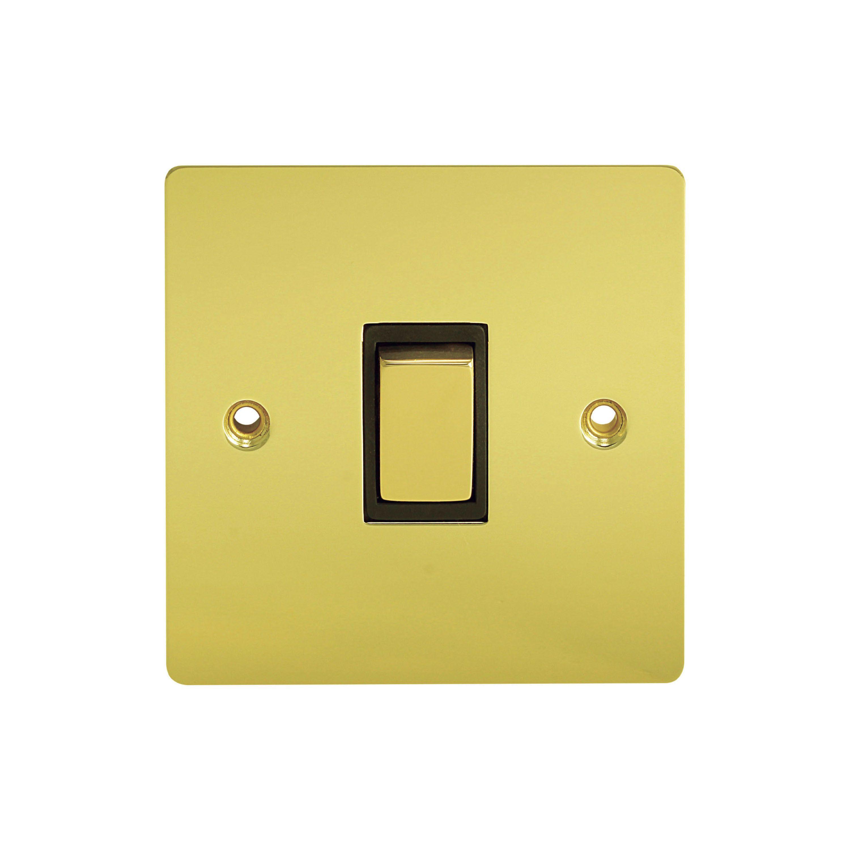 Holder 10a 2-way Single Polished Brass Light Switch