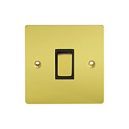 Holder 10A 2-Way Single Polished Brass Light Switch