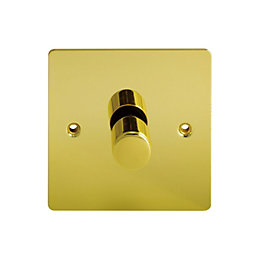 Holder 2-Way Single Polished Brass Dimmer Switch