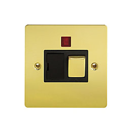 Holder 13A Single Polished Brass Fused Spur Switch
