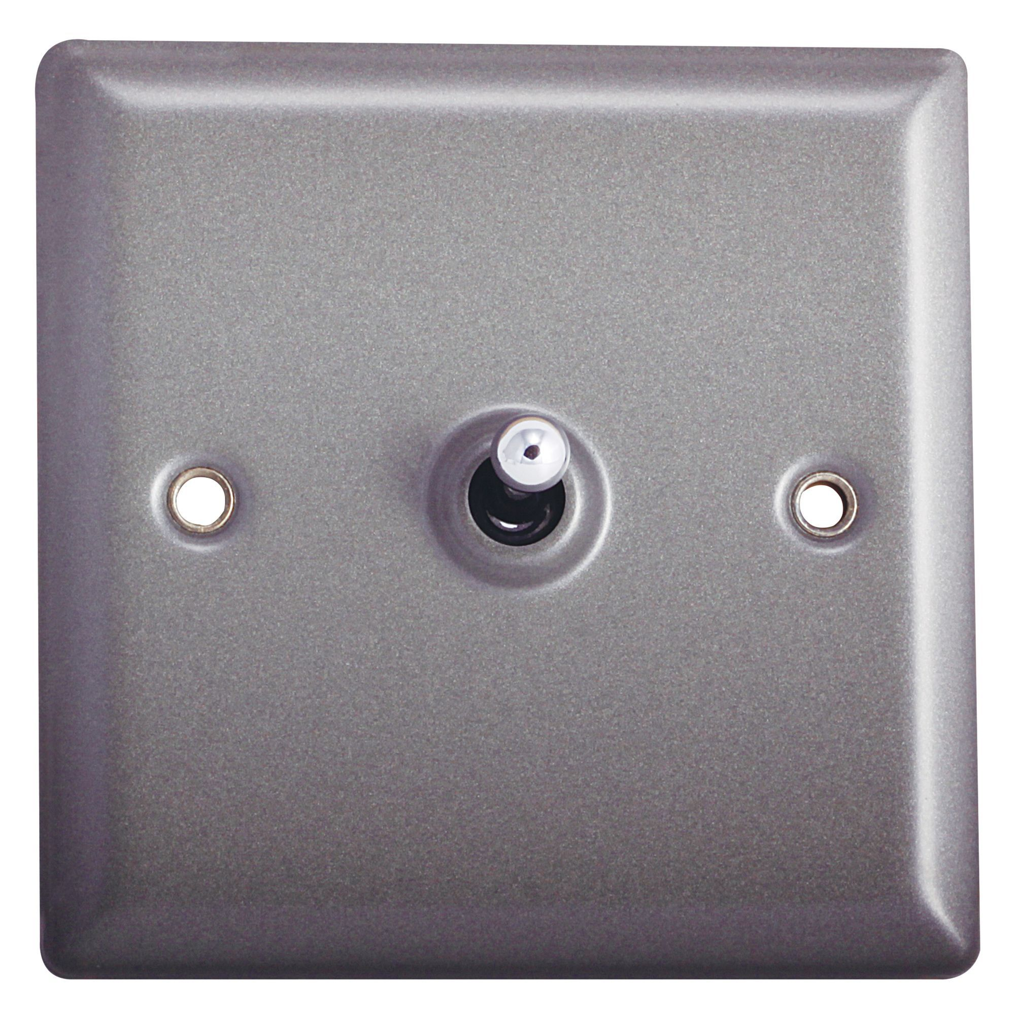 Holder 10a 2-way Single Pewter Toggle Switch