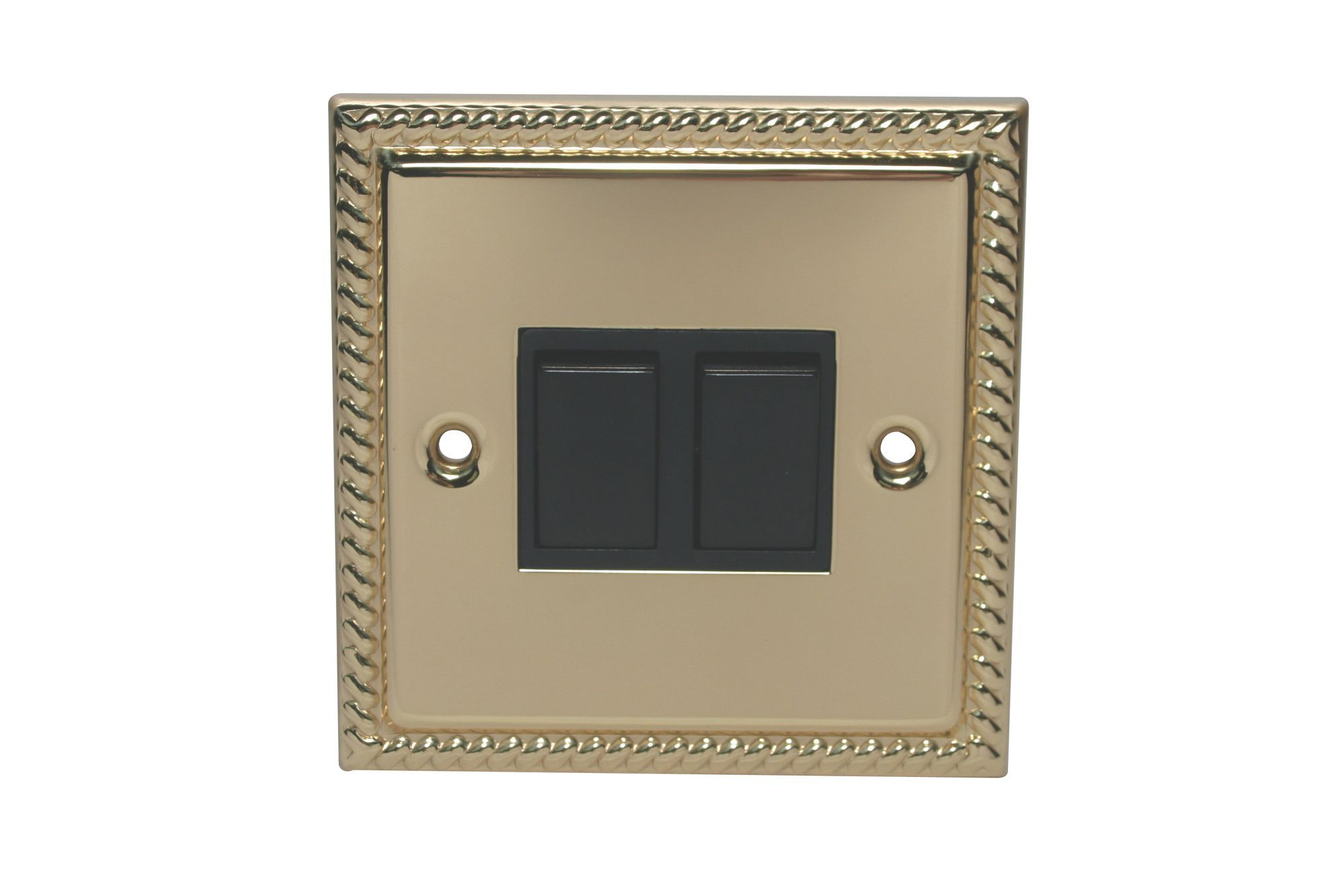 Holder 10a 2-way Double Polished Brass & Gold Effect Light Switch