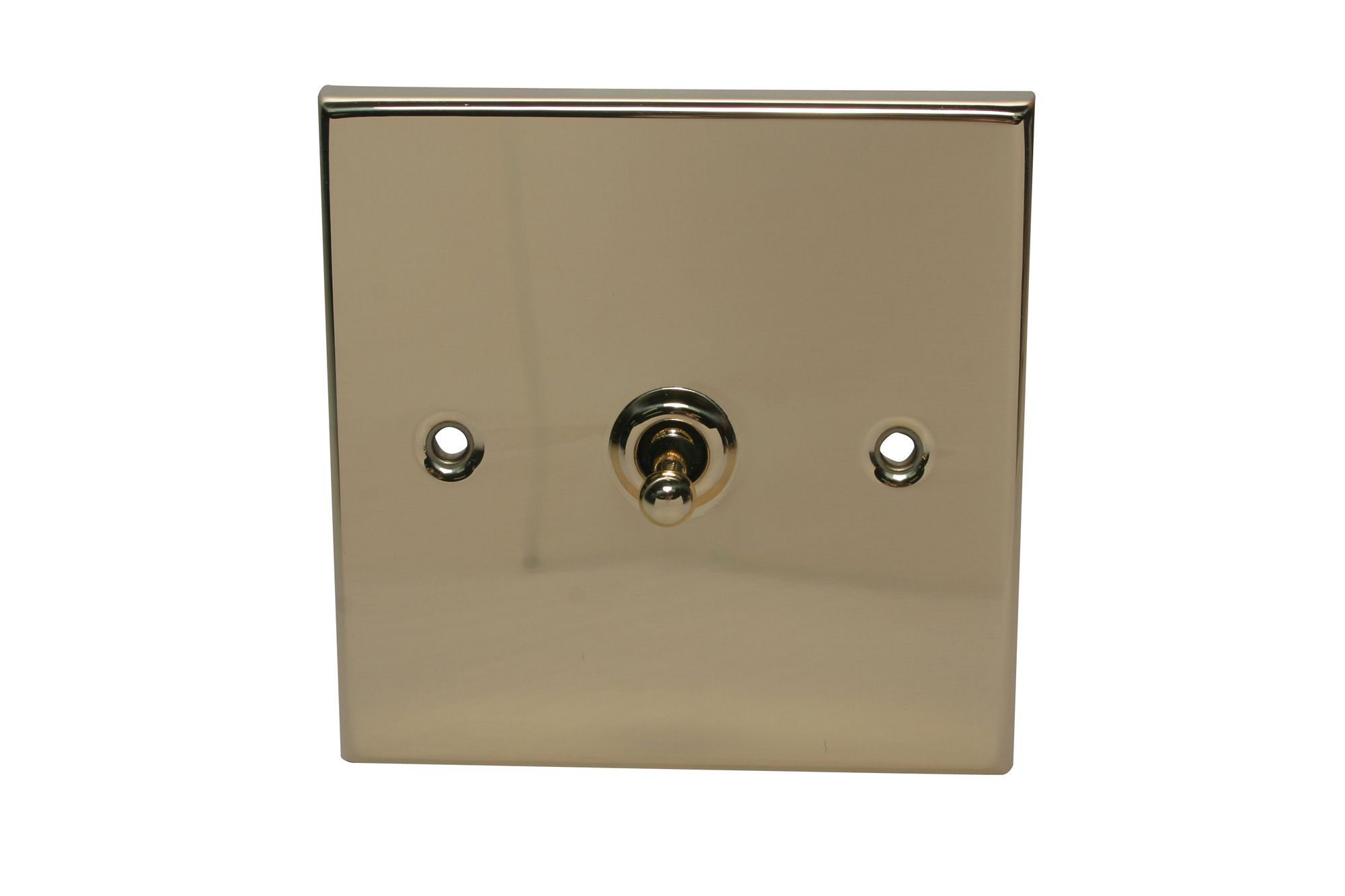 Holder 10a 2-way Single Polished Brass & Gold Effect Toggle Switch