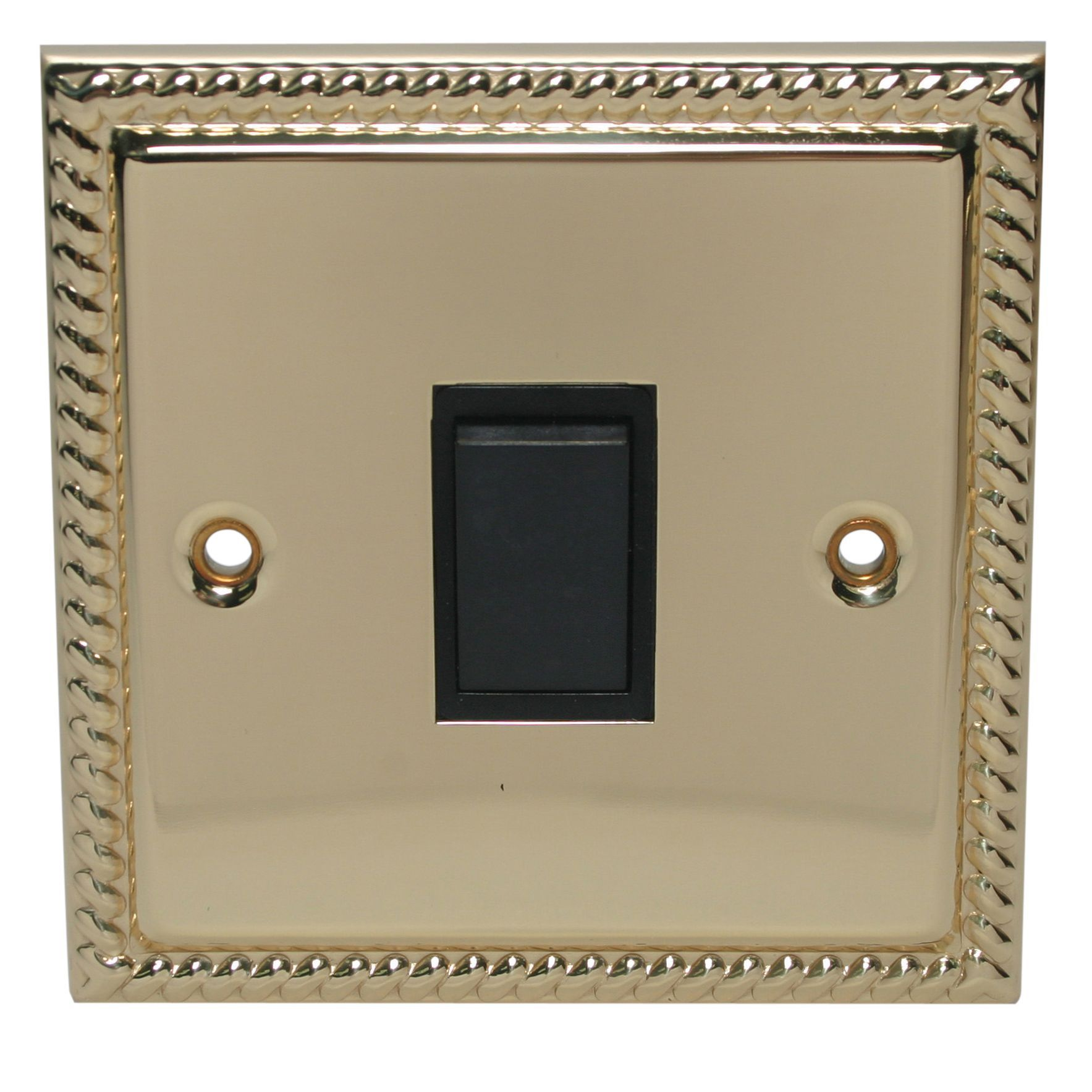 Holder 10a 2-way Single Polished Brass & Gold Effect Intermediate Switch